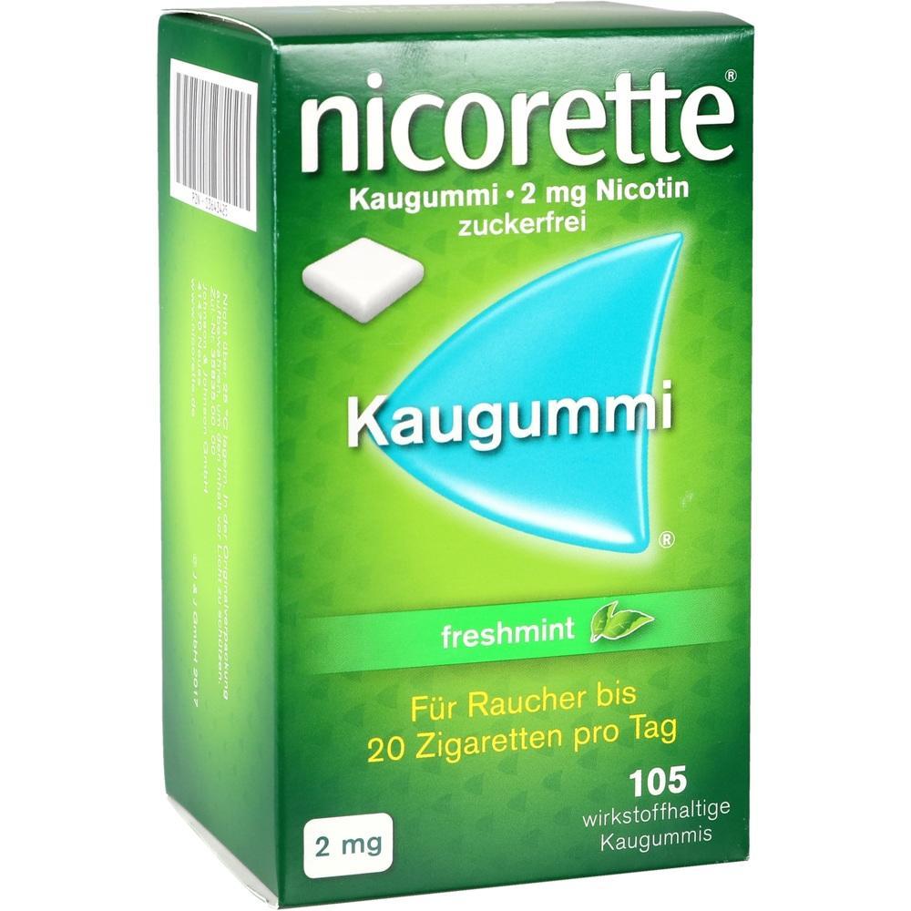 03643425, Nicorette Freshmint Kaugummi 2mg, 105 ST