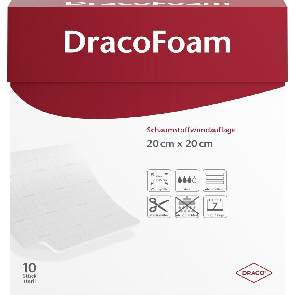03693587, DracoFoam Schaumstoff Wundauflage 20x20cm, 10 ST