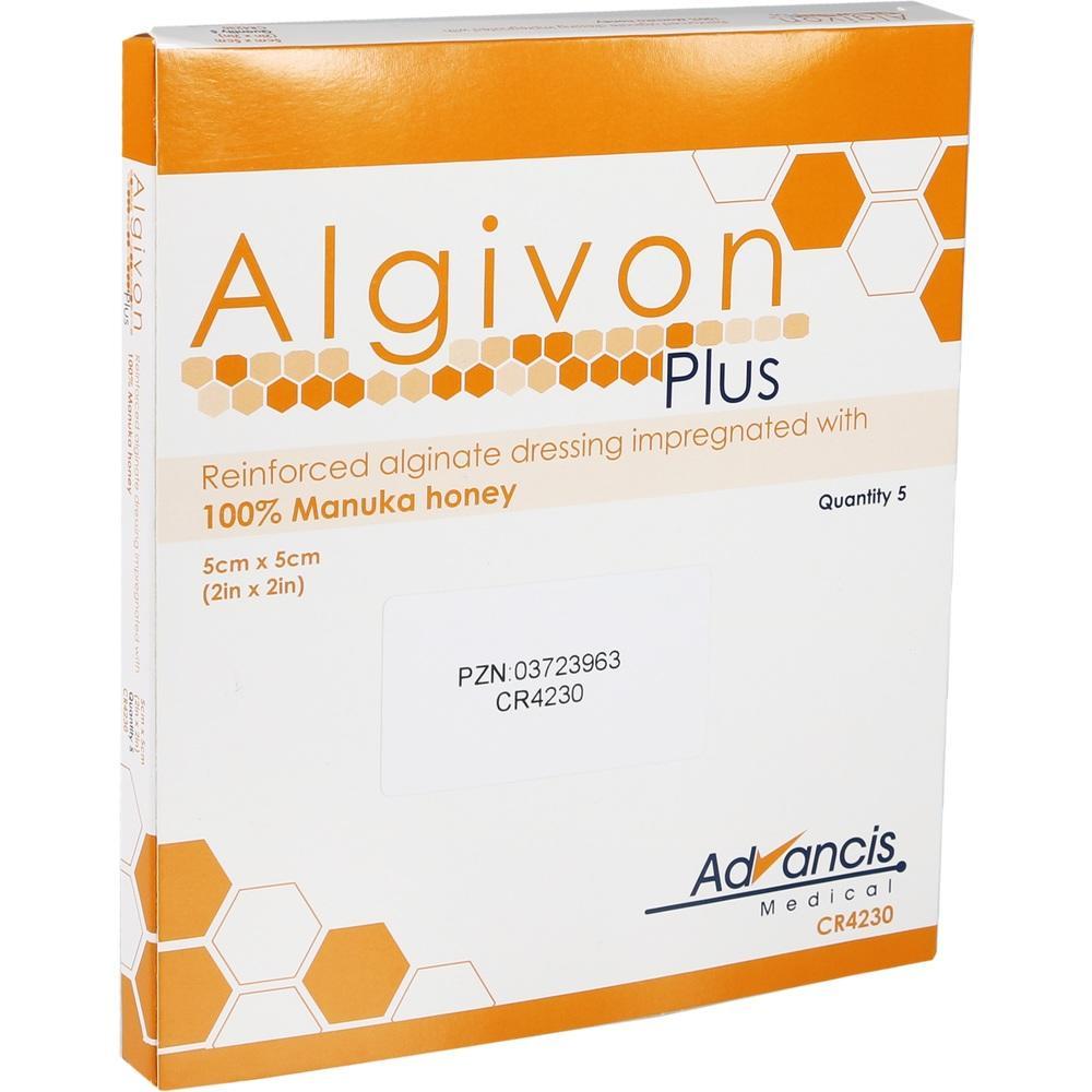 03723963, Algivon Plus Honigalginat 5x5cm, 5 ST