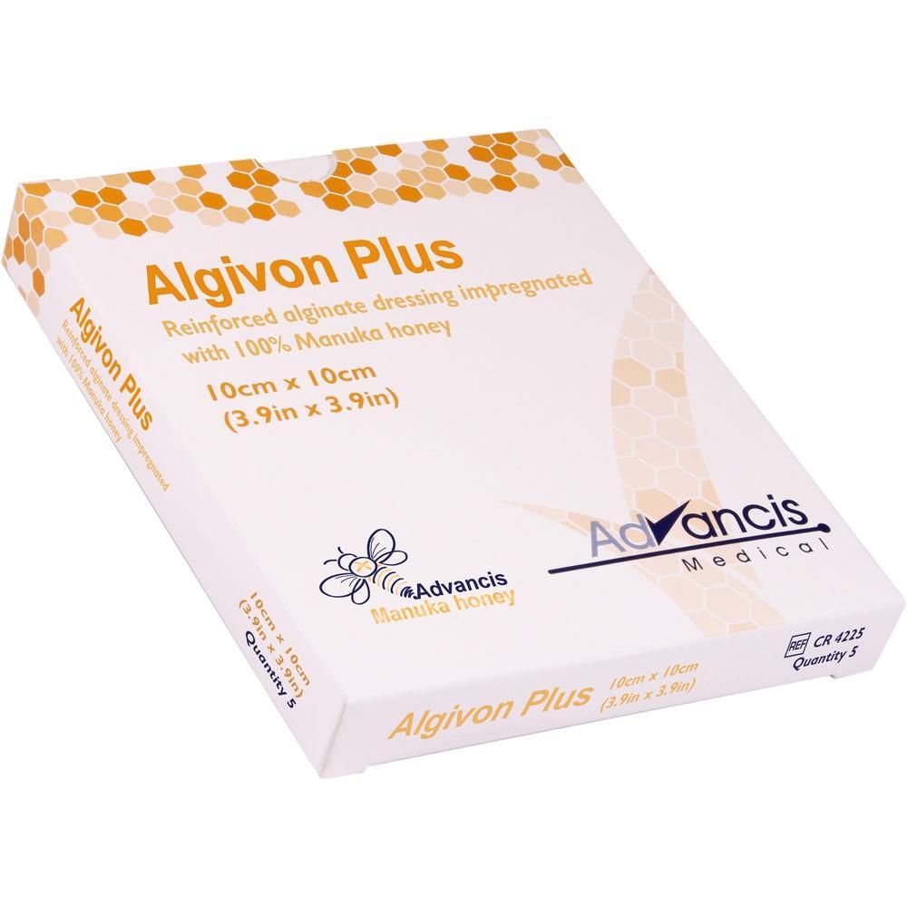 03723986, Algivon Plus Honigalginat 10x10cm, 5 ST