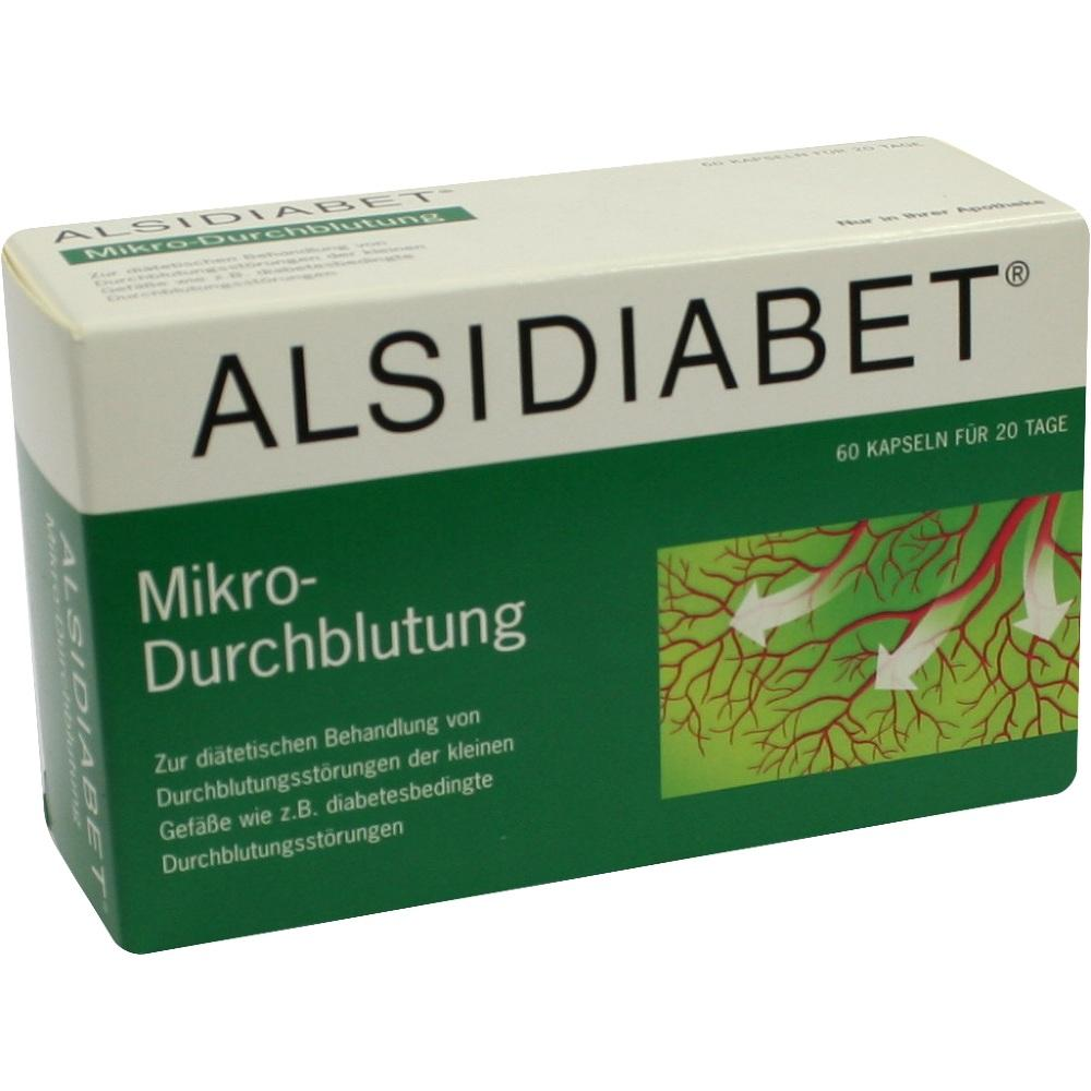 03727671, ALSIDIABET Diabetiker Mikro-Durchblutung, 60 ST