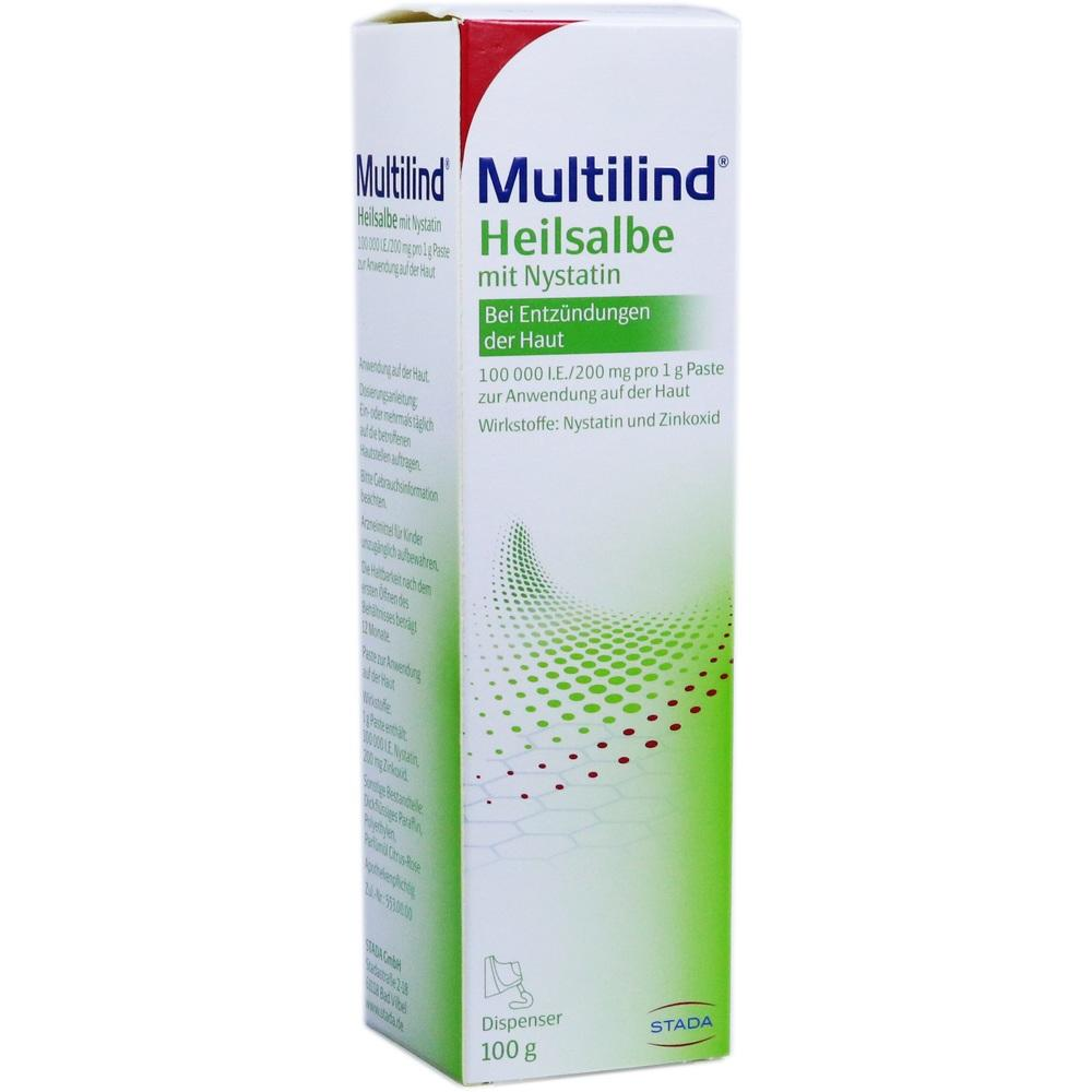 03737646, MULTILIND Heilsalbe mit Nystatin u. Zinkoxid, 100 G