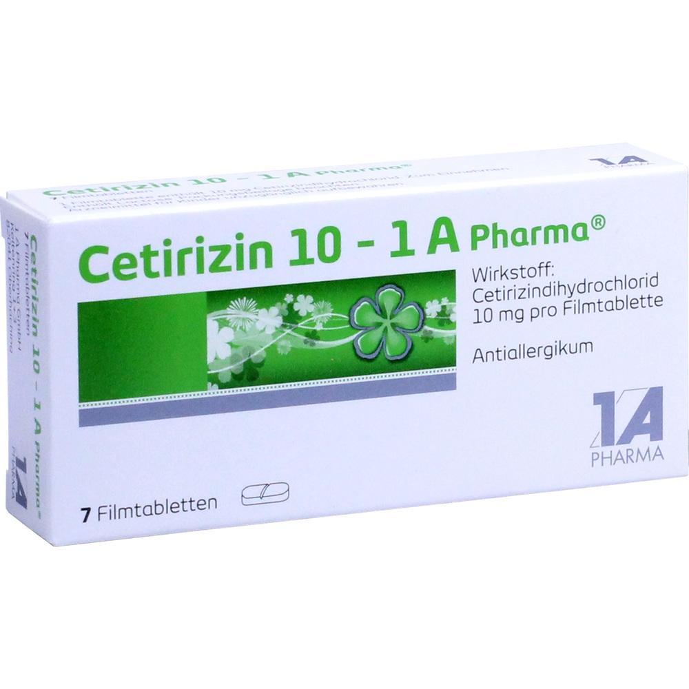 03823564, Cetirizin 10 - 1 A Pharma, 7 ST