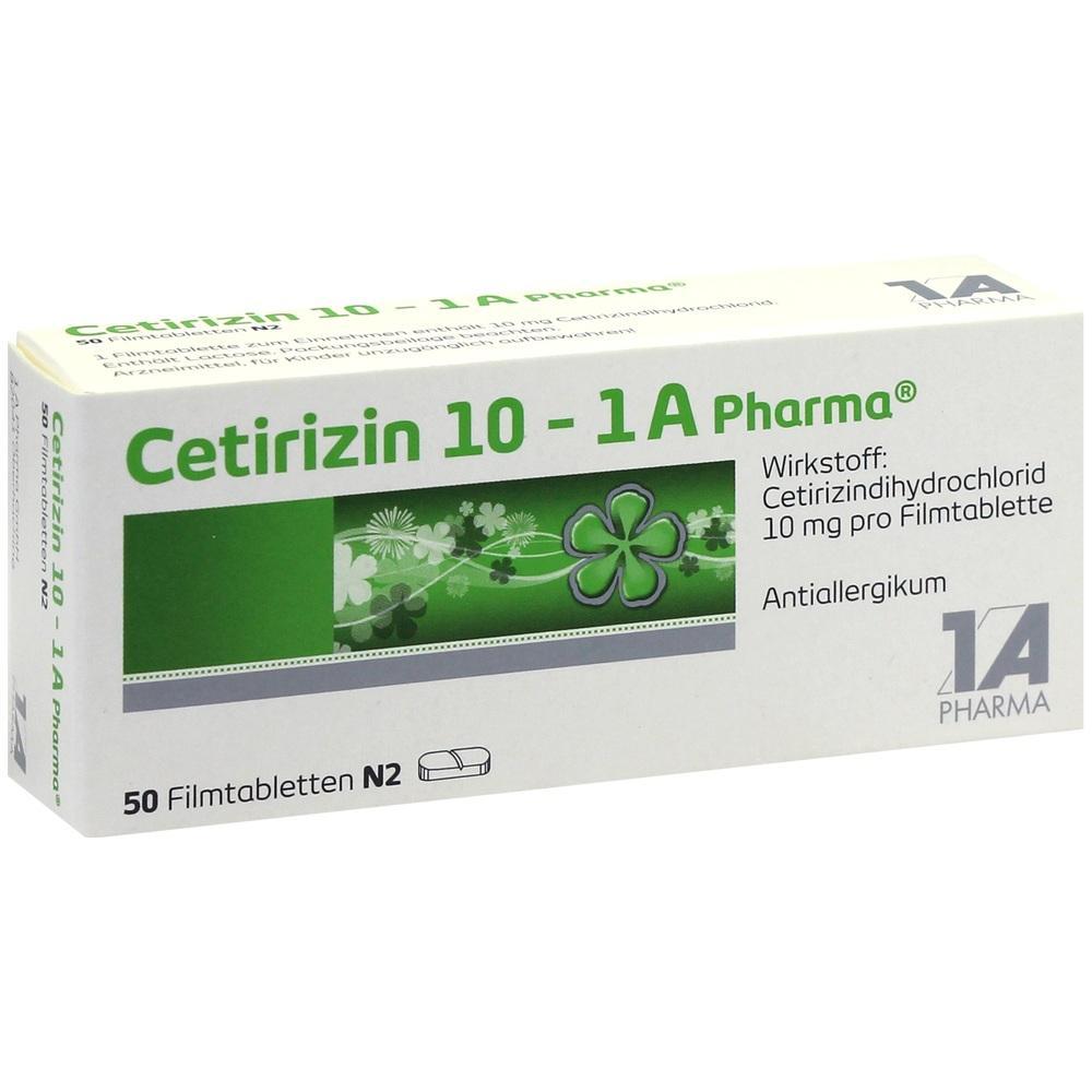 03823630, Cetirizin 10 - 1 A Pharma, 50 ST
