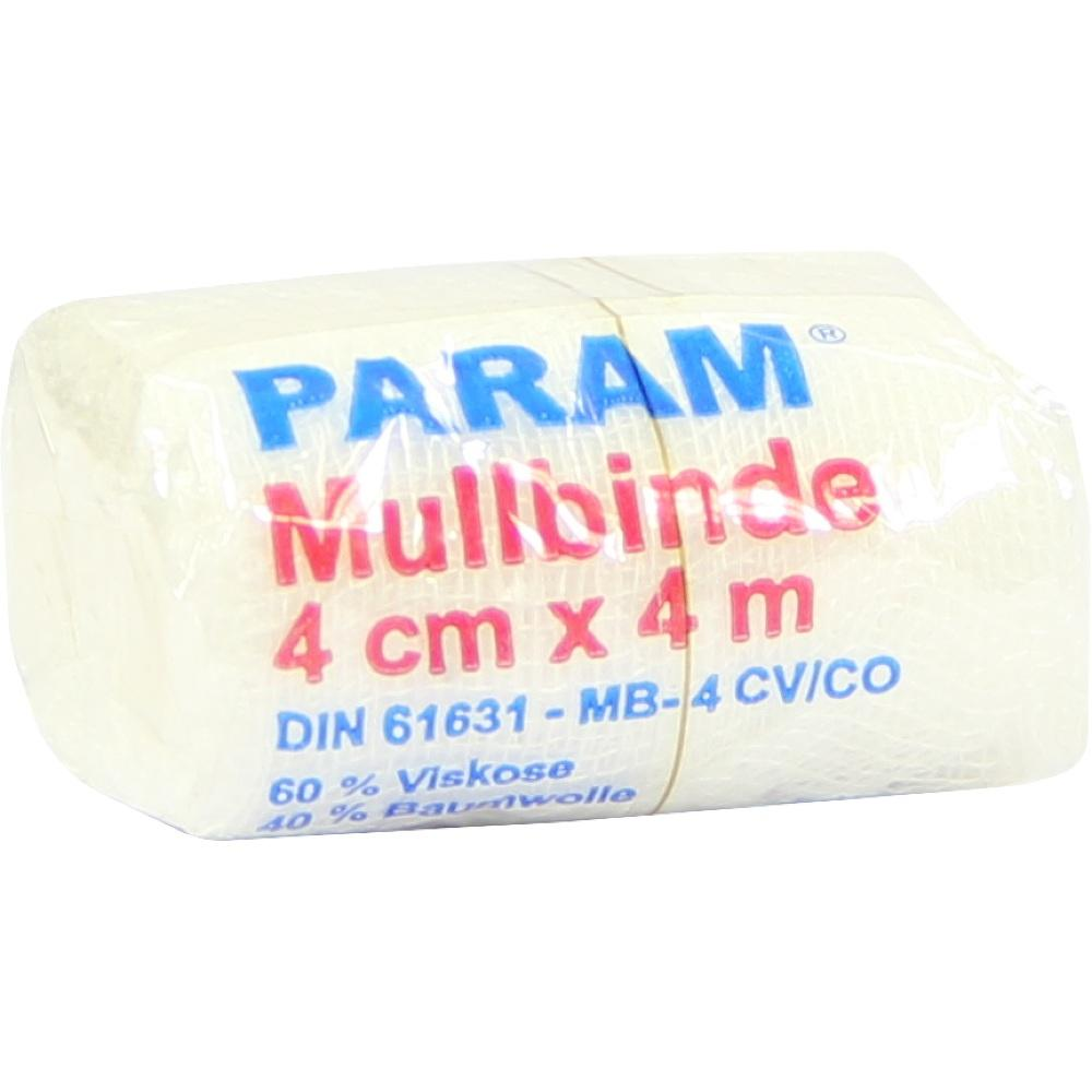 Param GmbH PARAM Mullbinde 4 cm x 4 m mit Cellophan 03855392
