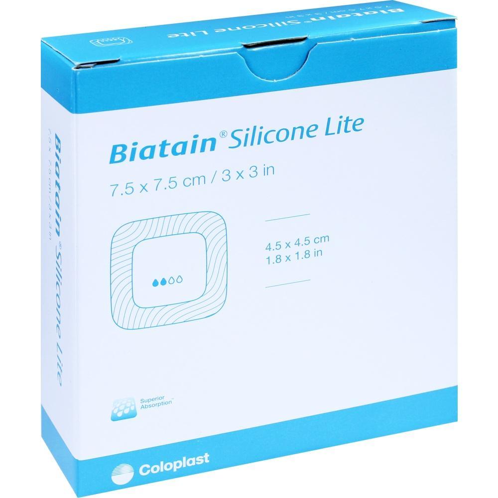 BIATAIN Silicone Lite Schaumverband 7,5x7,5 cm