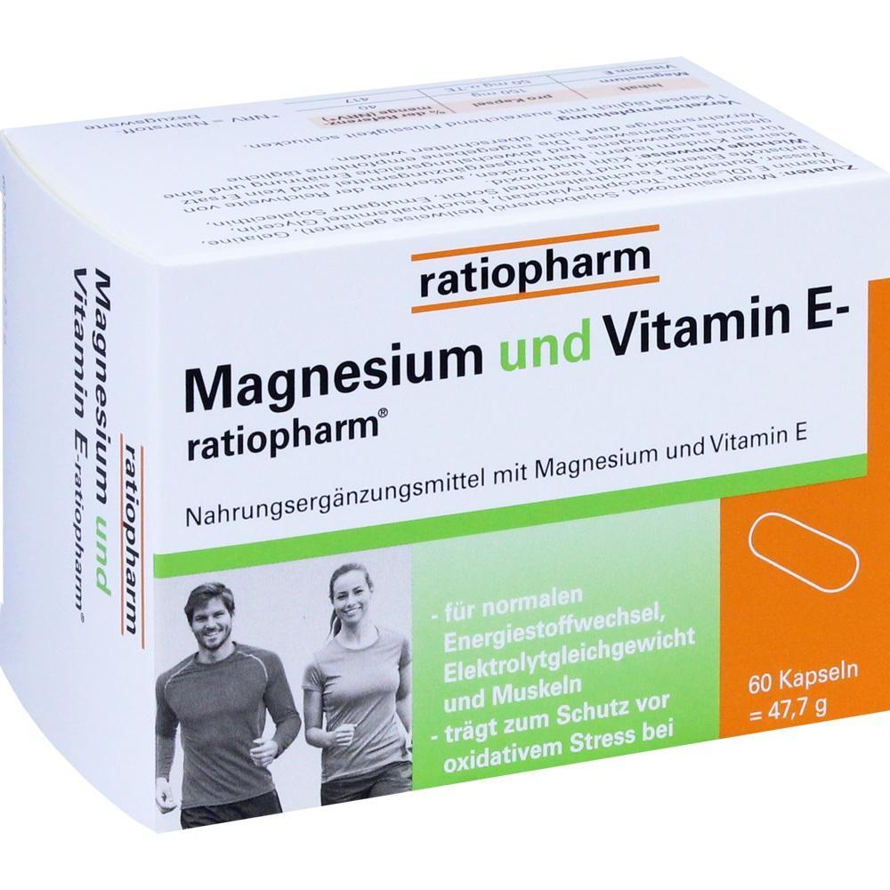 03935530, MAGNESIUM und VITAMIN E-ratiopharm, 60 ST