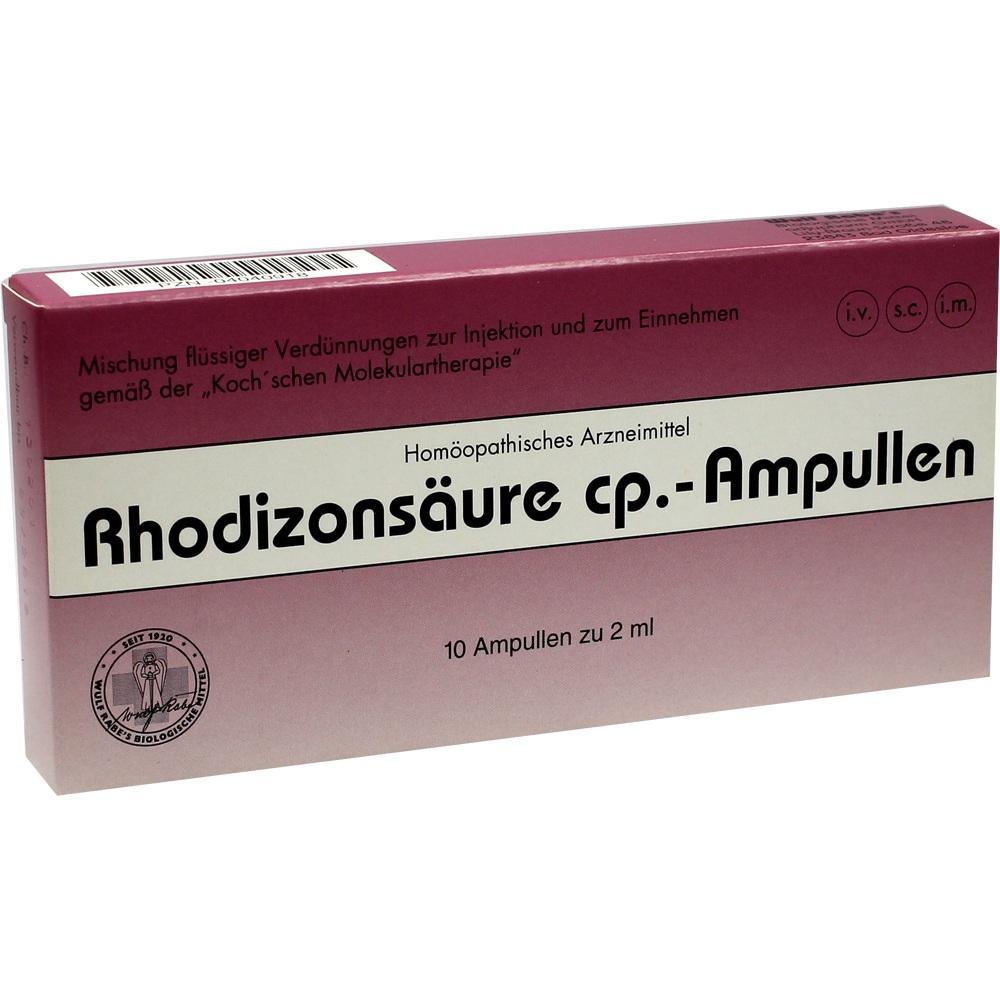 04040918, Rhodizonsäure cp. Ampullen, 10X2 ML