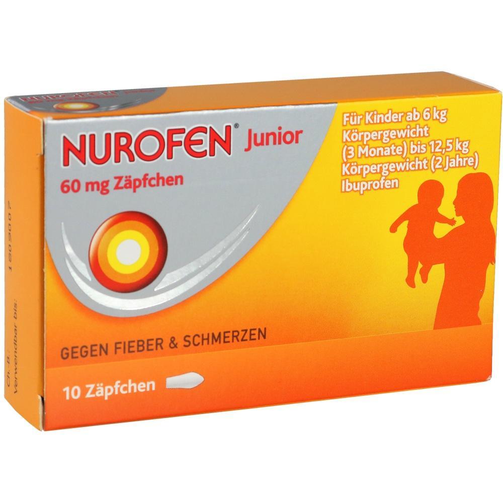 04085246, Nurofen Junior 60mg Zäpchen, 10 ST