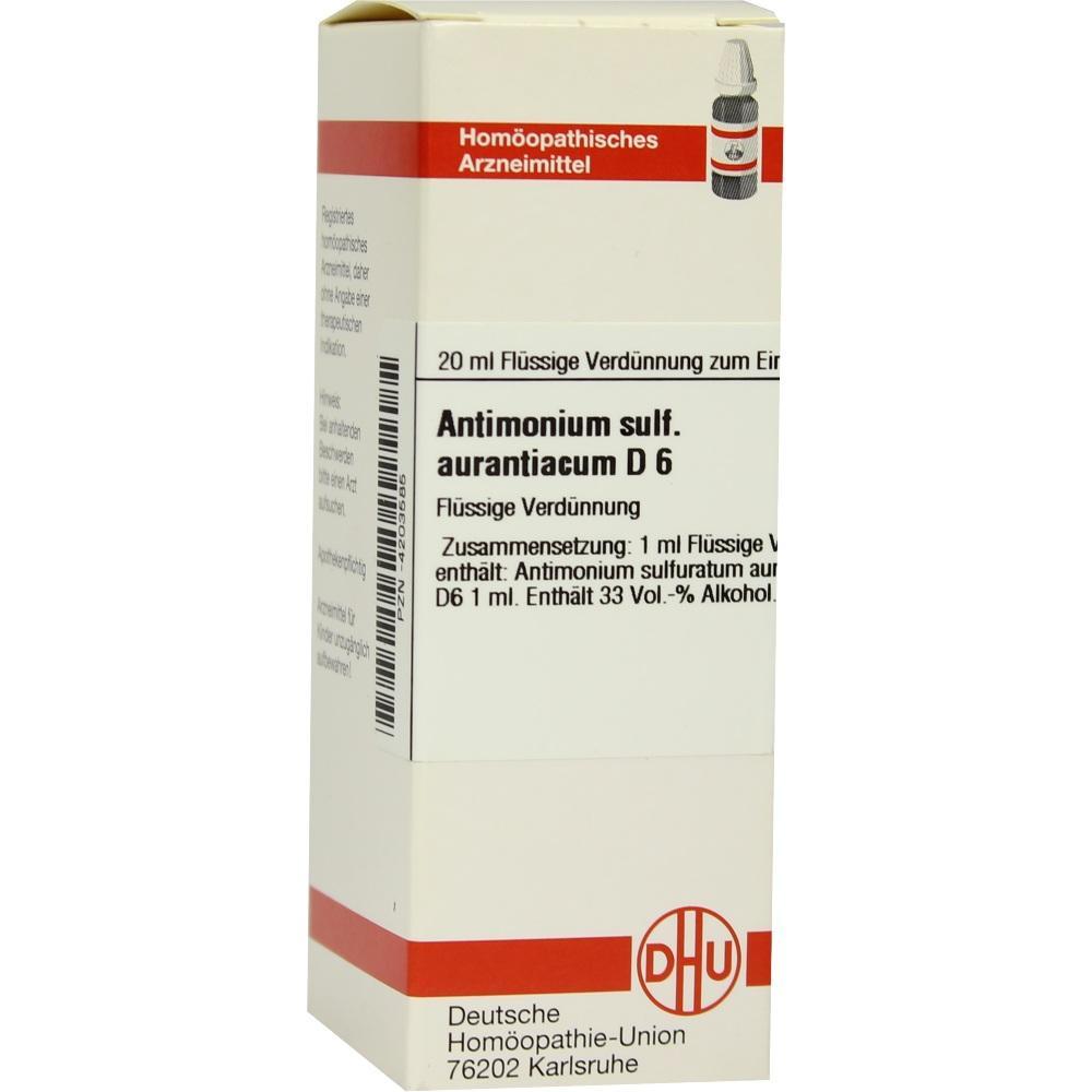 ANTIMONIUM SULFURATUM aurantiacum D 6 Dilution