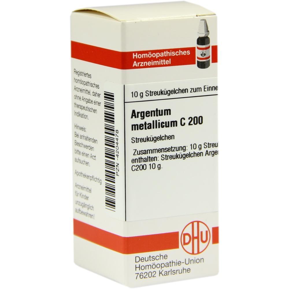 ARGENTUM METALLICUM C 200 Globuli