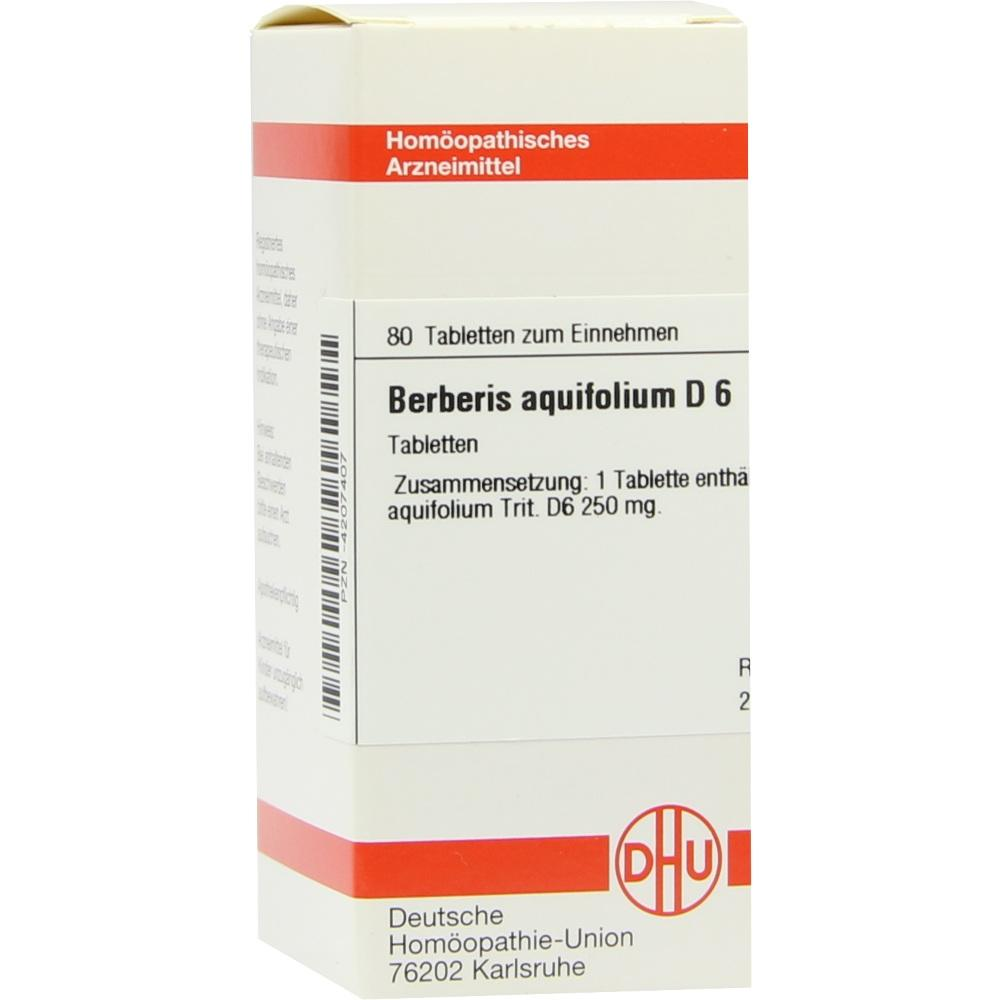 BERBERIS AQUIFOLIUM D 6 Tabletten