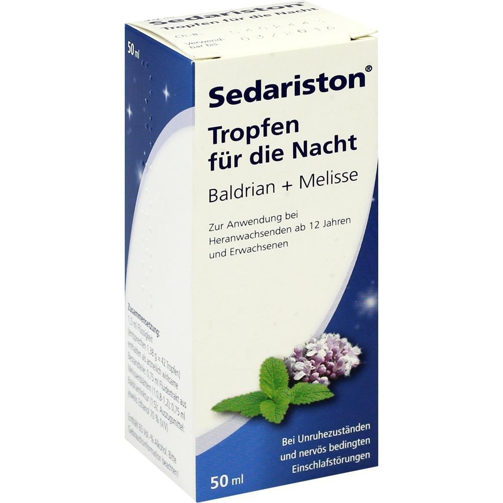04218026, Sedariston Tropfen für die Nacht Baldrian+Melisse, 50 ML