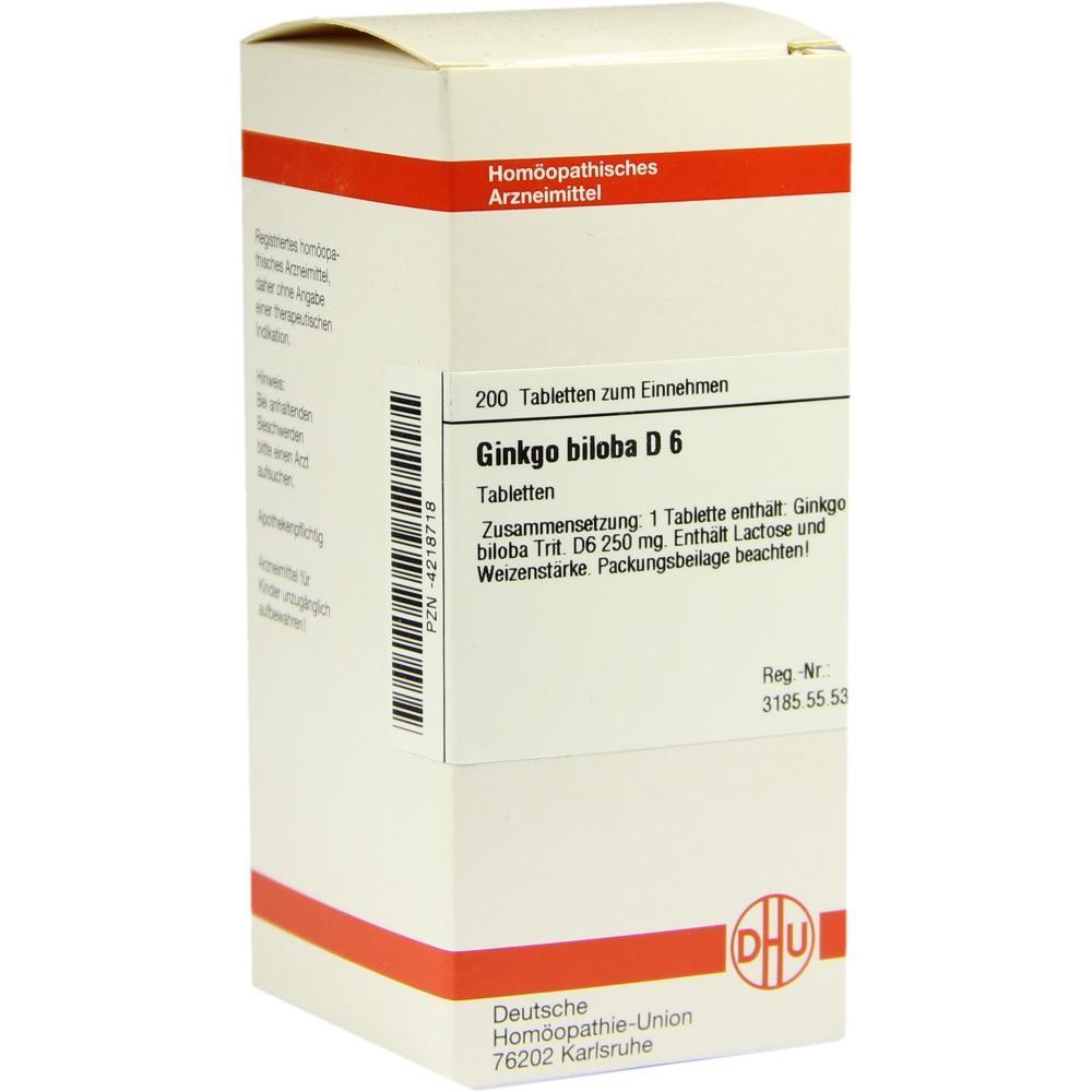 GINKGO BILOBA D 6 Tabletten