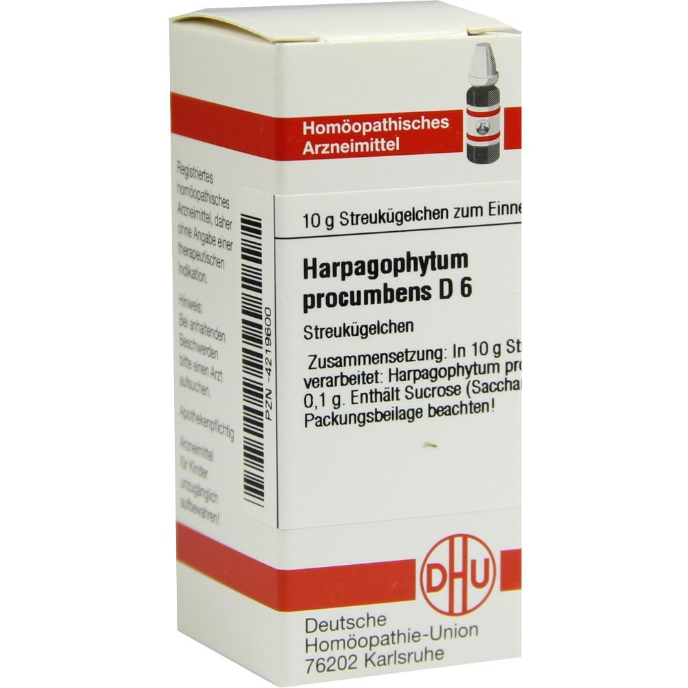 04219600, HARPAGOPHYTUM PROC D 6, 10 G