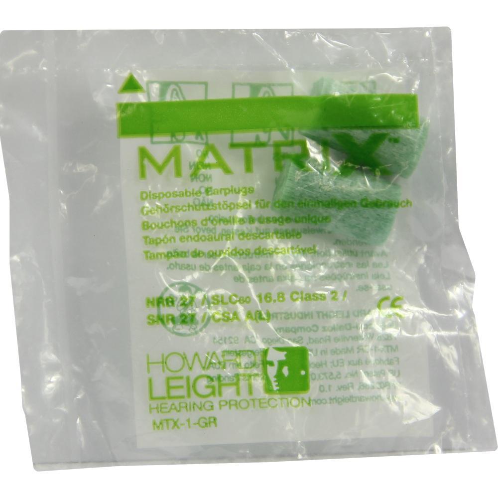 04220885, HOWARD LEIGHT MATRIX GREEN GEHOERSCHUTZSTÖPSEL, 2 ST