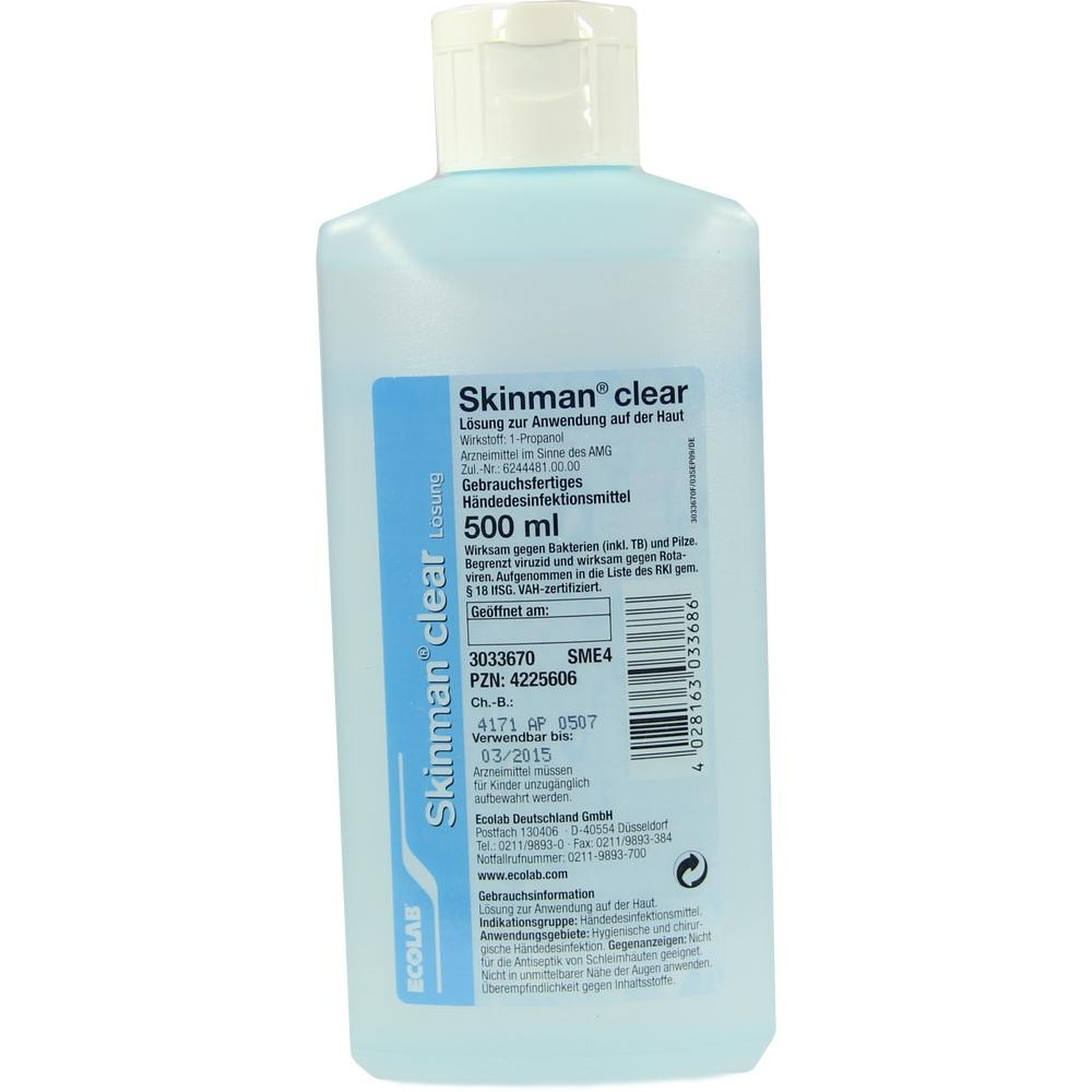 SKINMAN clear Händedesinfektion Spenderflasche