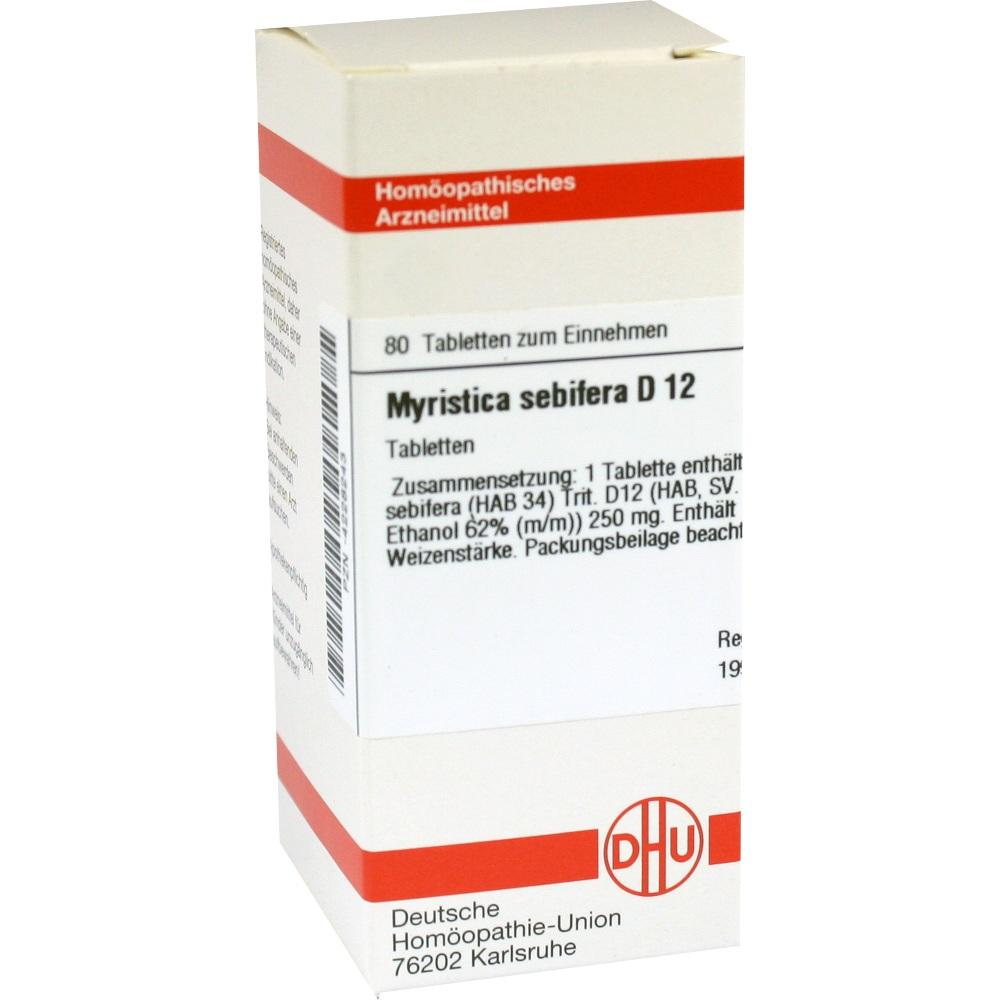 MYRISTICA SEBIFERA D 12 Tabletten