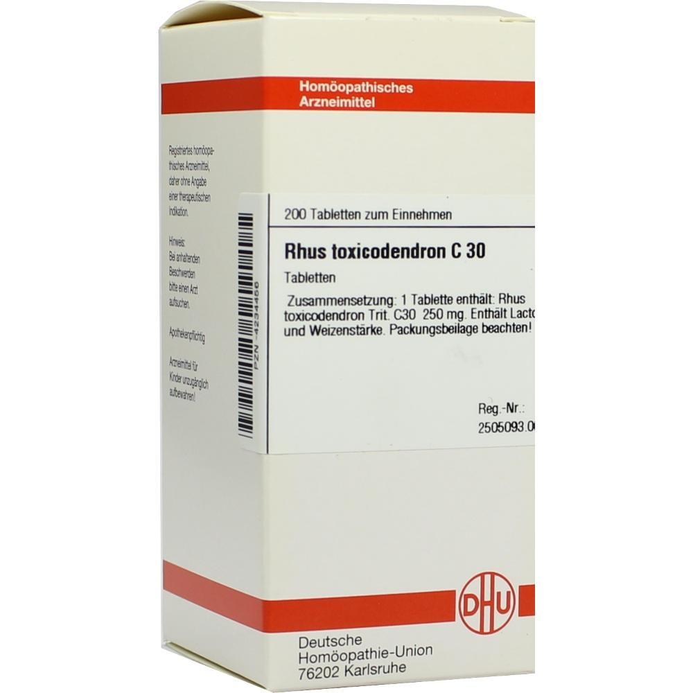RHUS TOXICODENDRON C 30 Tabletten