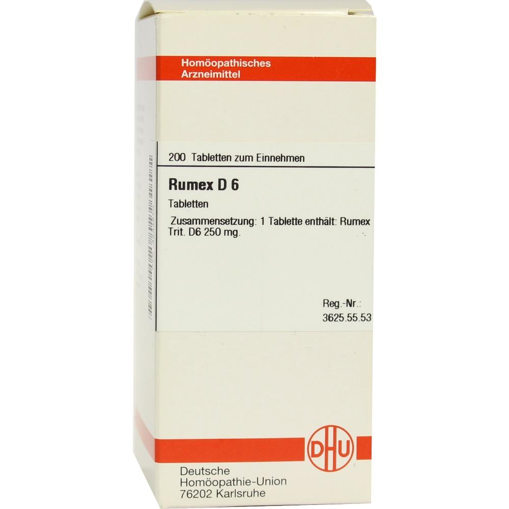 RUMEX D 6 Tabletten