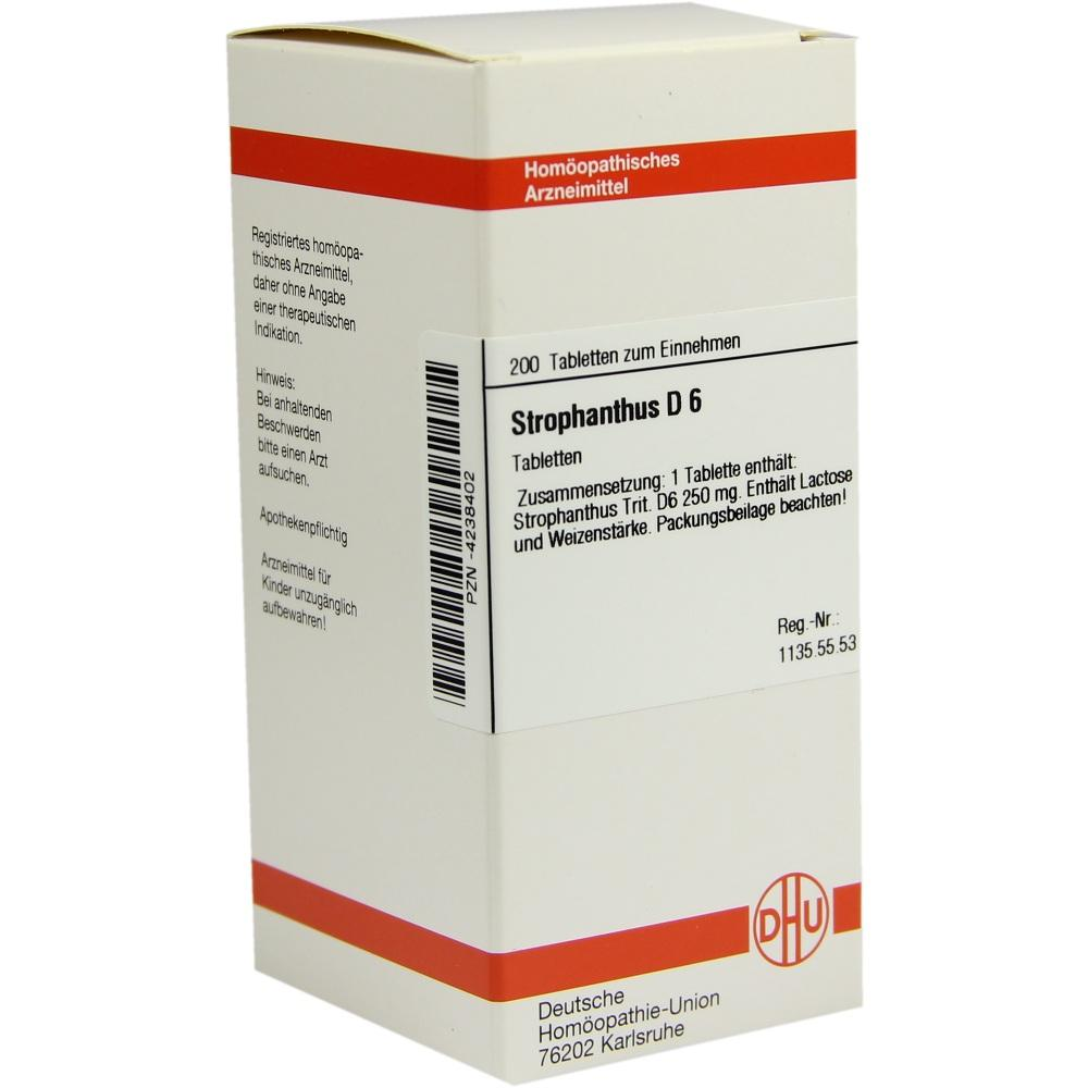 STROPHANTHUS D 6 Tabletten
