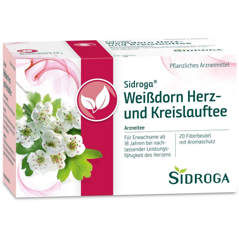 04262636, Sidroga Weißdorn Herz-und Kreislauftee, 20X1.5 G