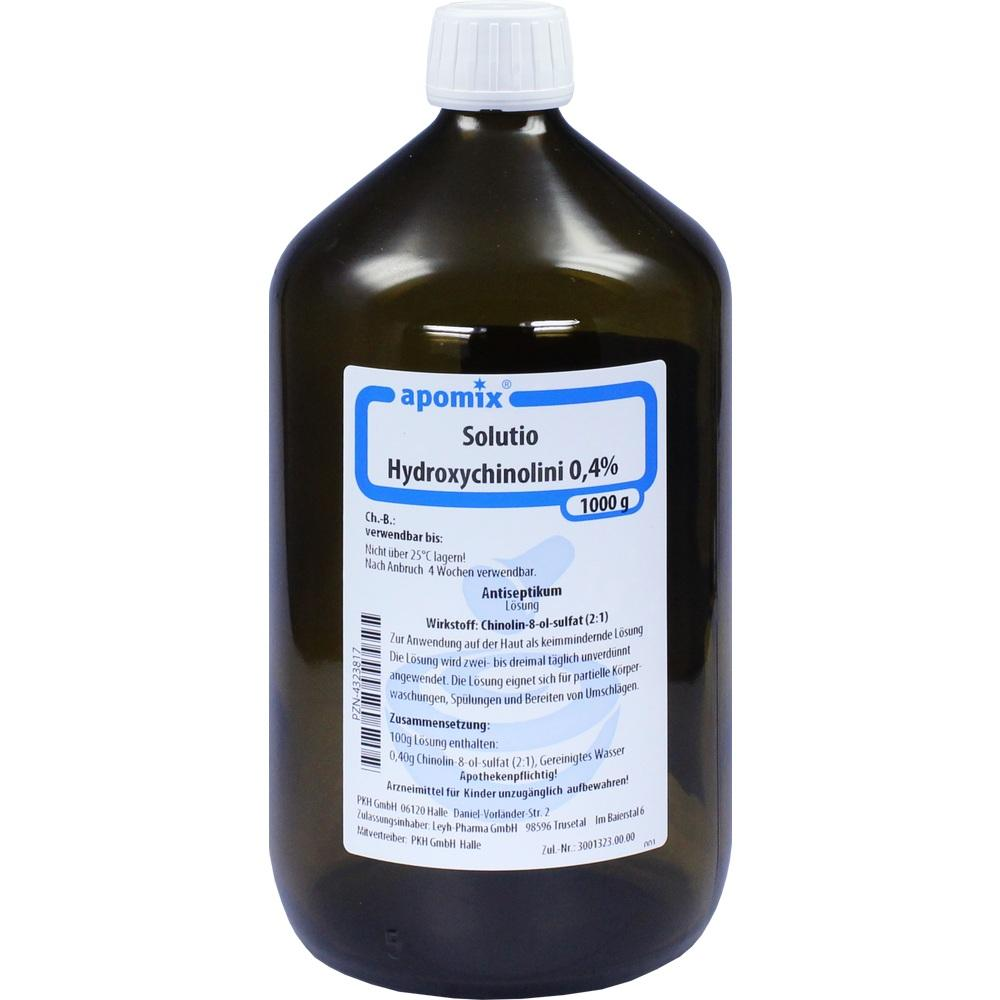04323817, Solutio Hydroxychinolini 0.4%, 1 L