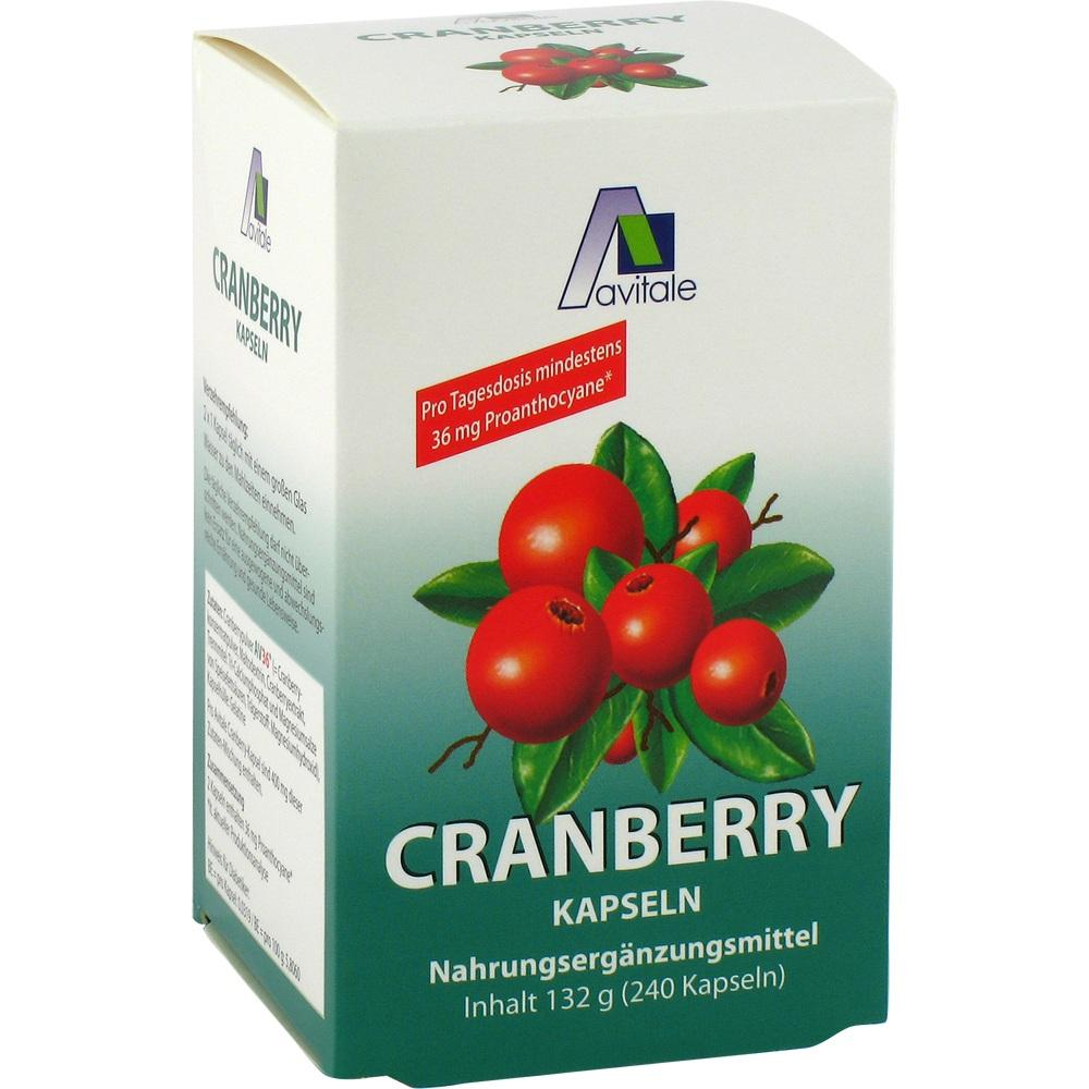 04347717, Cranberry Kapseln 400mg Sparpackung, 240 ST