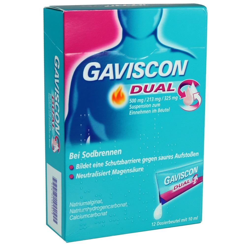 04363828, Gaviscon Dual 500mg/213mg/325mg, 12X10 ML