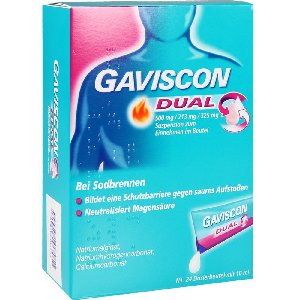 04363834, Gaviscon Dual 500mg/213mg/325mg, 24X10 ML