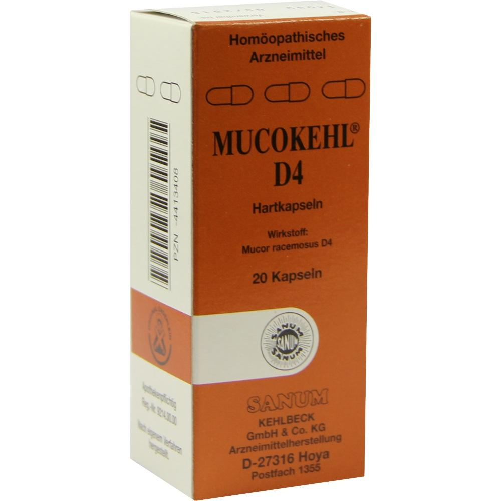 MUCOKEHL Kapseln D 4