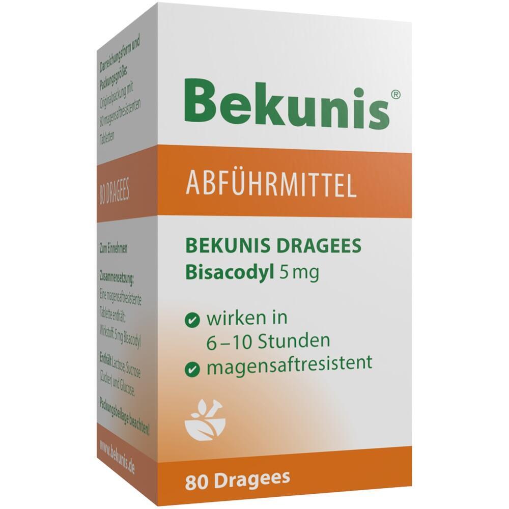 04512027, BEKUNIS DRAGEES BISACODYL 5mg, 80 ST