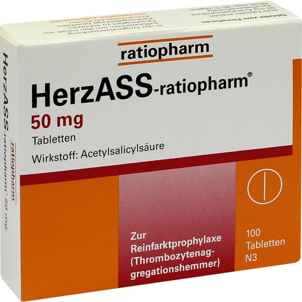 04562798, HerzASS-ratiopharm 50 mg, 100 ST