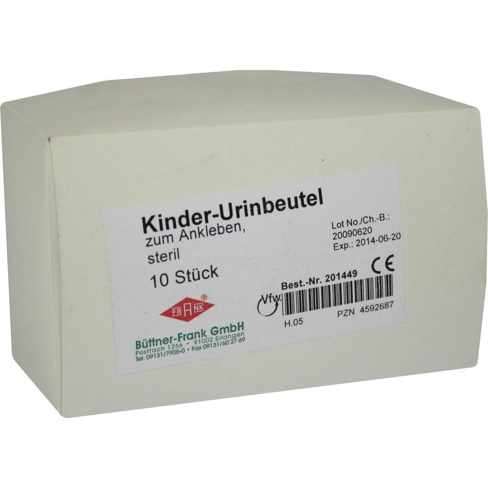 URIN AUFFANGBTL. steril 100 ml f.Kind z.Ankleben