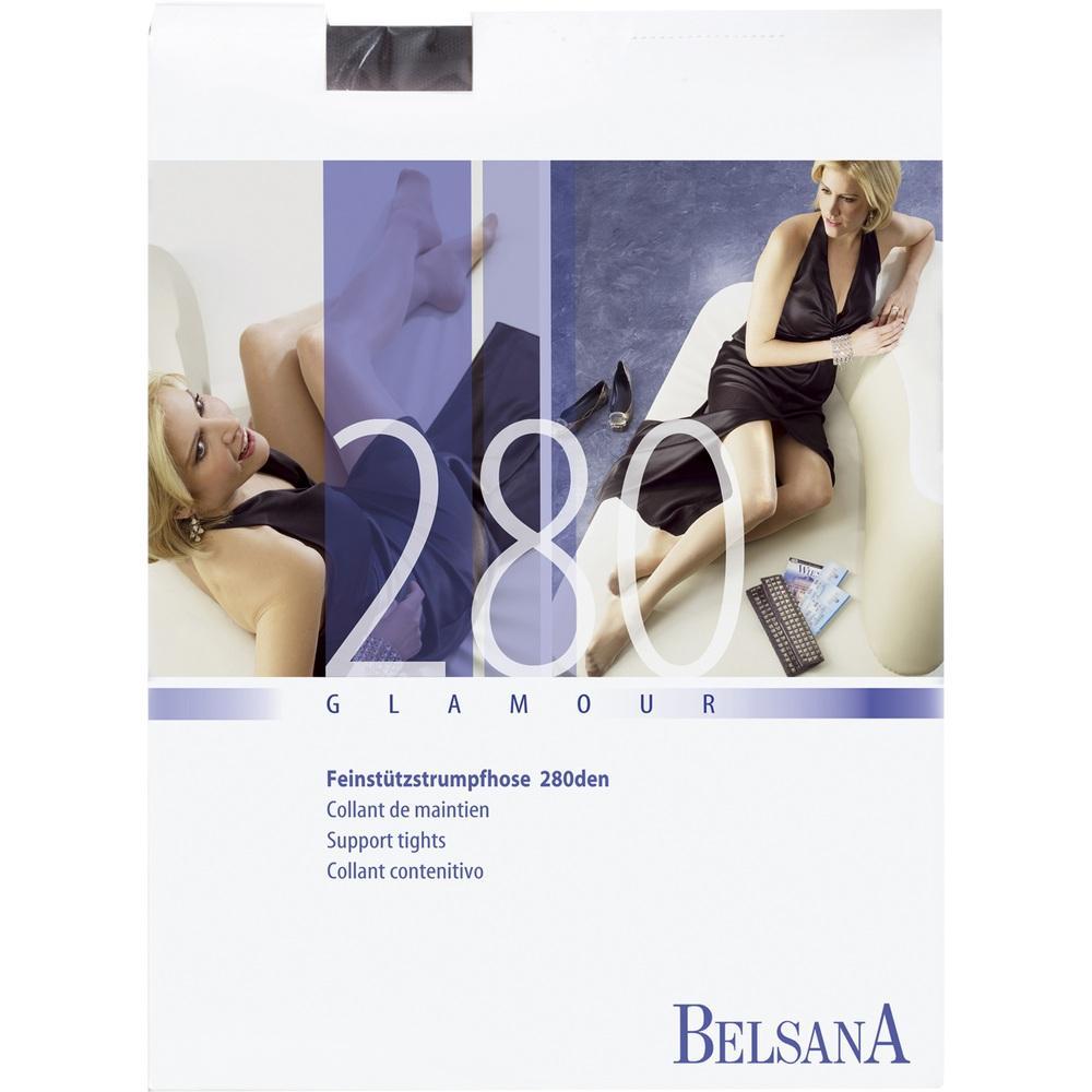 BELSANA glamour 280den AT kurz S schw.m.Sp.