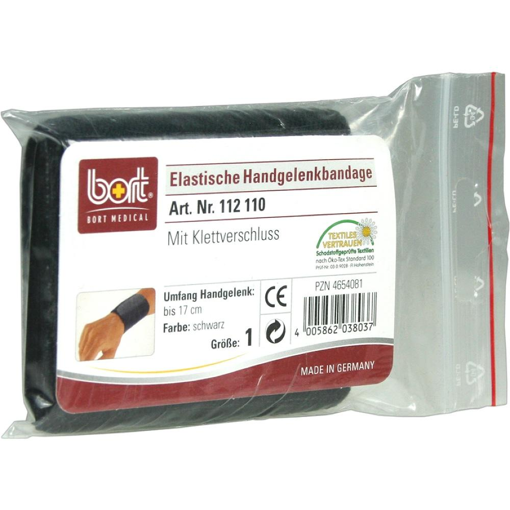 BORT Handgelenkbandage Gr.1 schwarz m.Klettvers.
