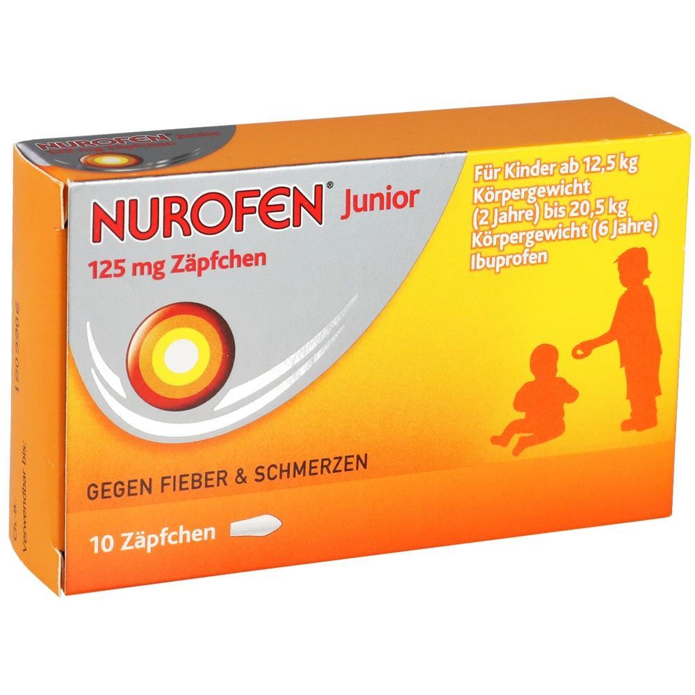 04660785, Nurofen Junior 125 mg Zäpfchen, 10 ST
