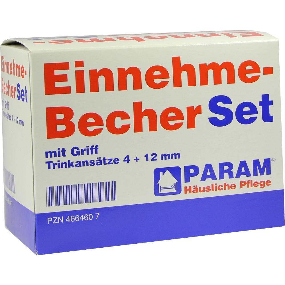 EINNEHMEBECHER Kunststoff Set 4+12 mm m.Griff