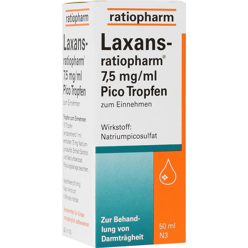 04687809, Laxans-ratiopharm 7.5mg/ml Pico Tropfen, 50 ML