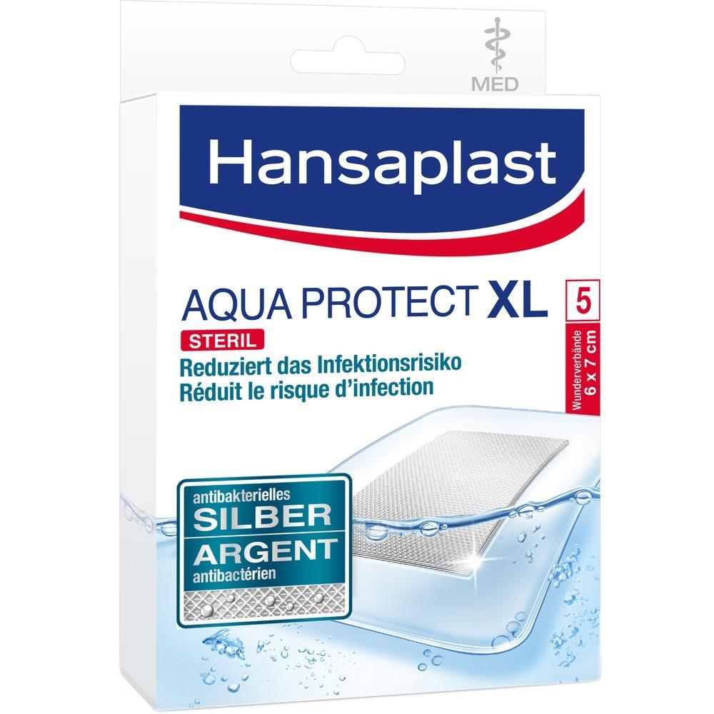 04753392, Hansaplast MED XL Aqua Protect 6cmx7cm, 5 ST