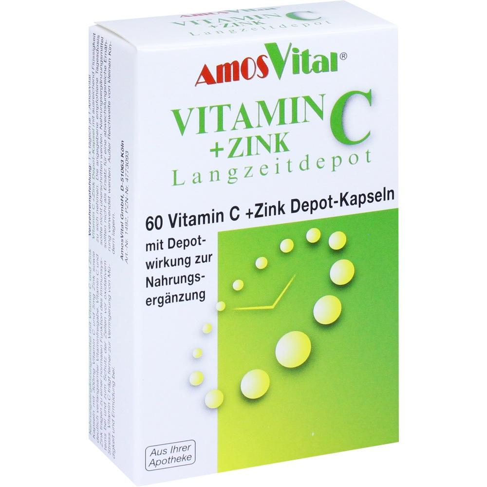 04773093, Vitamin C + Zink Depot Kapseln, 60 ST