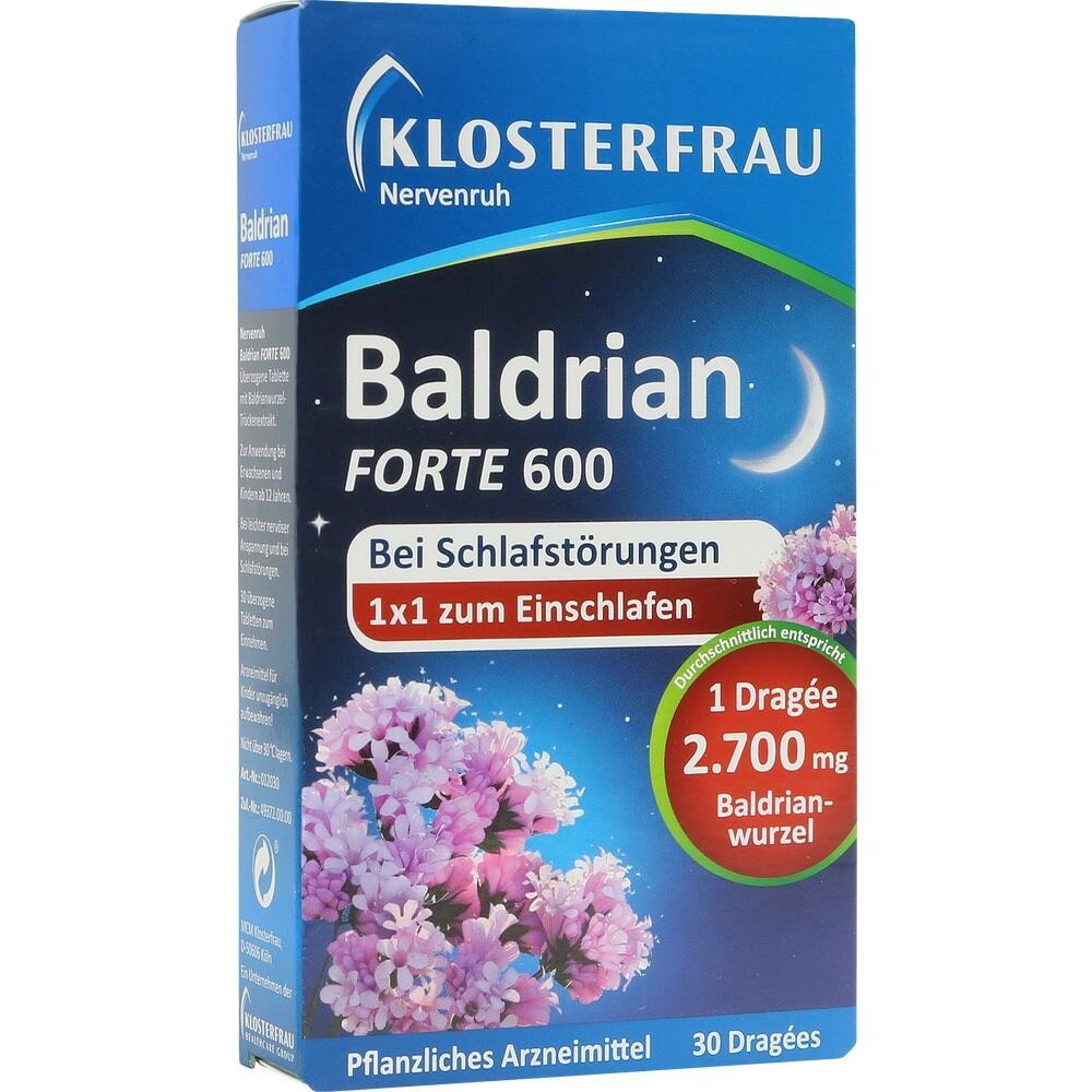 04787729, Klosterfrau Baldrian forte 600 Nervenruh, 30 ST