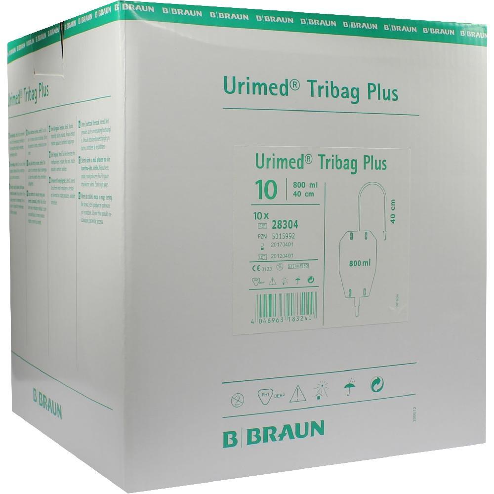URIMED Tribag Plus Urin Beinbtl.800ml 40cm ster.