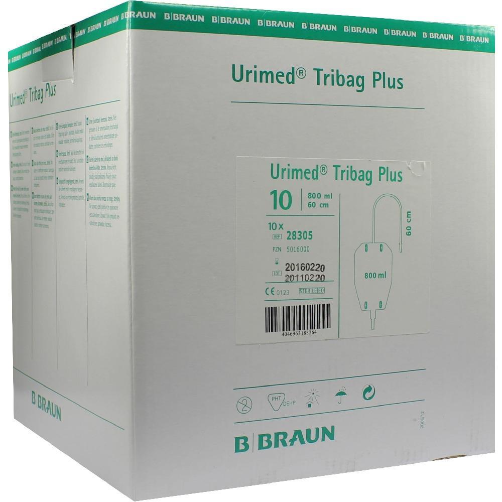 URIMED Tribag Plus Urin Beinbtl.800ml 60cm ster.