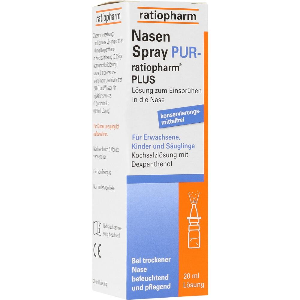 05041423, NasenSpray PUR-ratiopharm PLUS, 20 ML