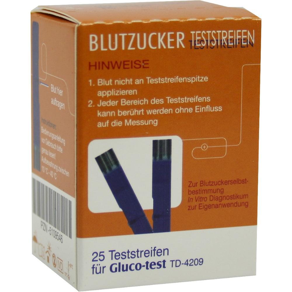 05109546, Gluco-test Blutzuckerteststreifen, 25 ST