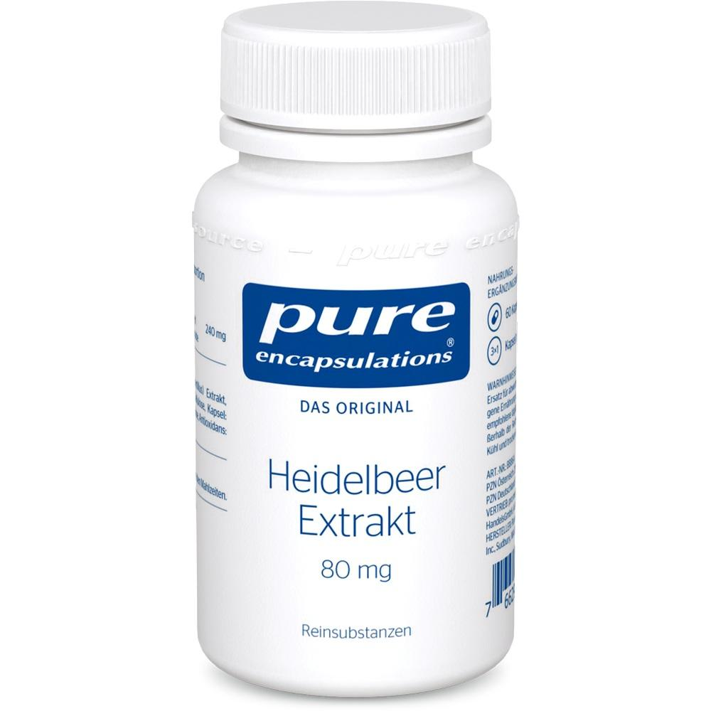 05131988, PURE ENCAPSULATIONS HEIDELBEER EXTRAKT 80MG, 60 ST