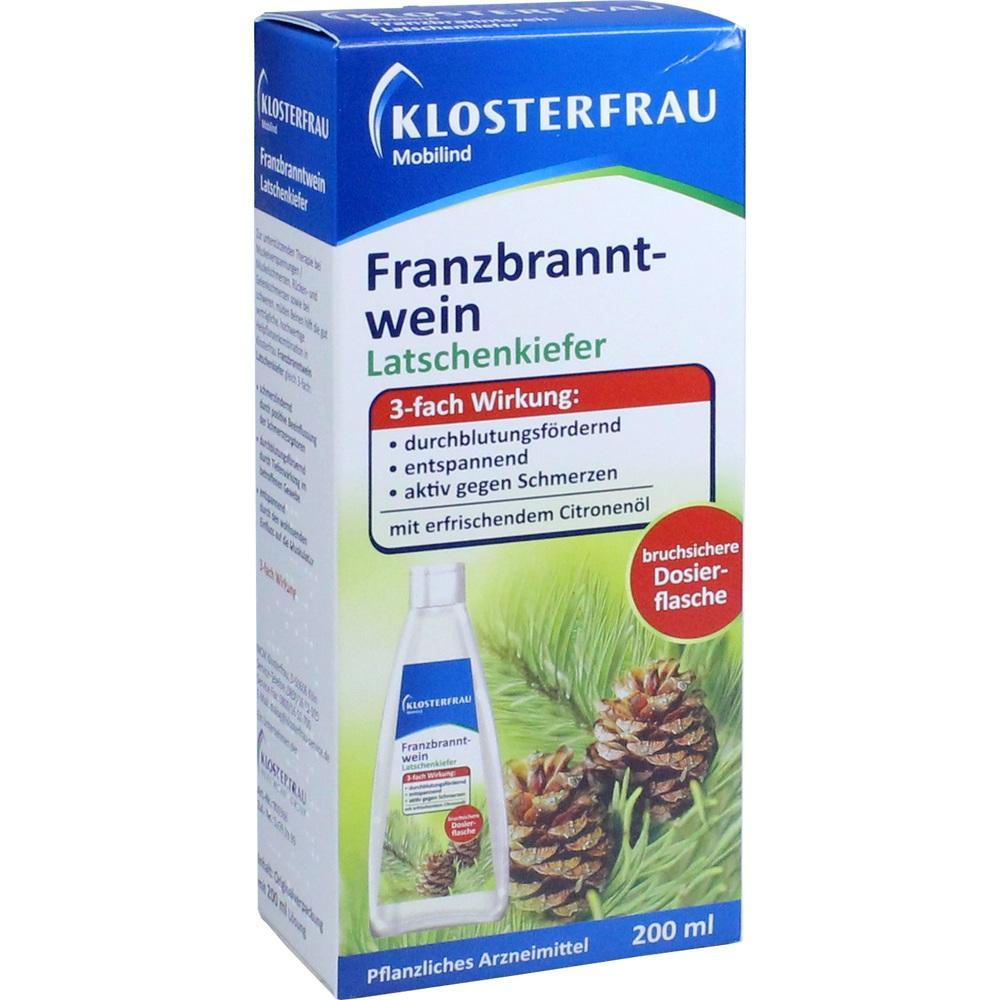05360832, Klosterfrau Franzbranntwein Dosierfl.Latschenkief., 200 ML