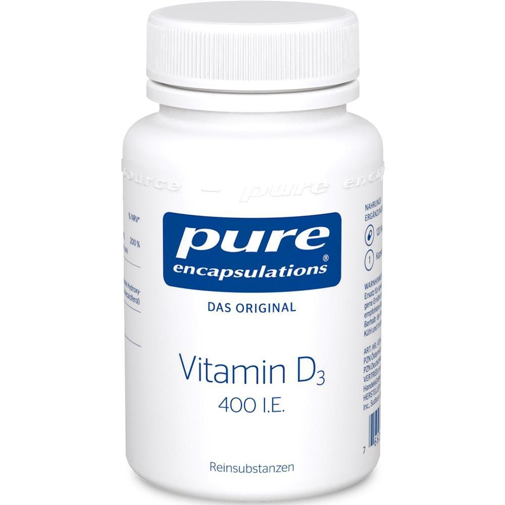 05455538, PURE ENCAPSULATIONS Vitamin D3 400 I.E., 120 ST