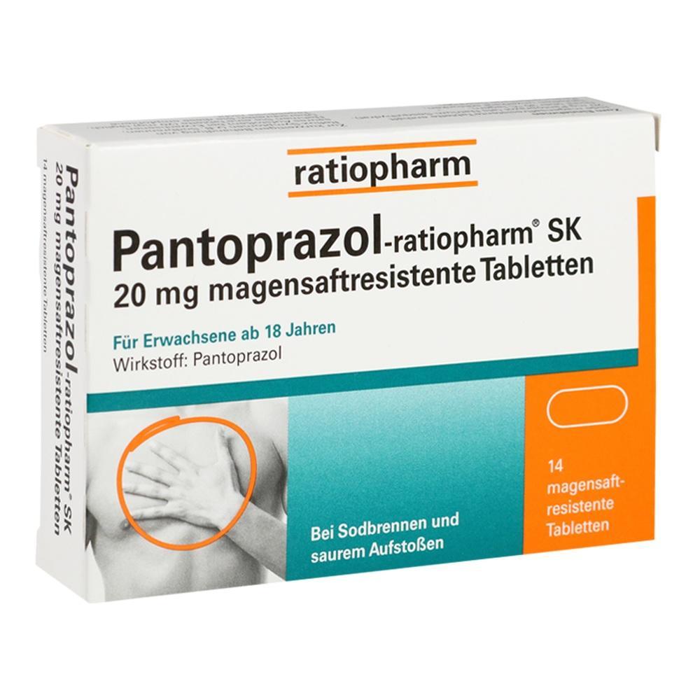 05520856, Pantoprazol-ratiopharm SK 20mg magensaftres. Tbl., 14 ST